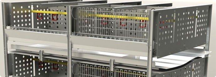 Клеточное оборудование для ремонтного молодняка