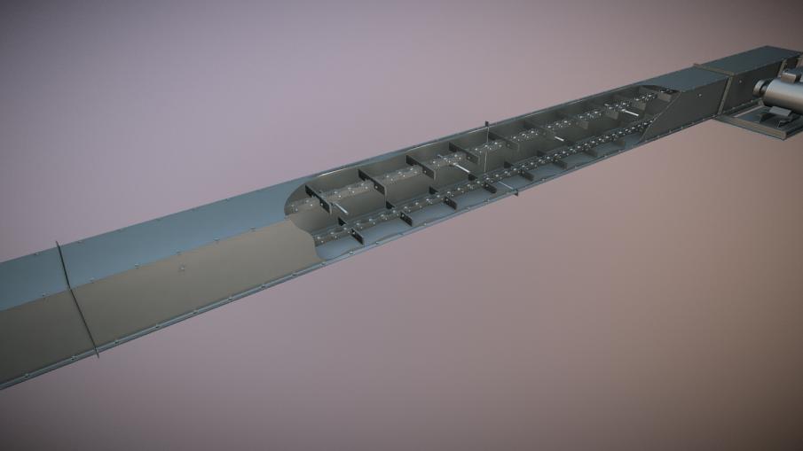 Горизонтальный скребковый транспортер